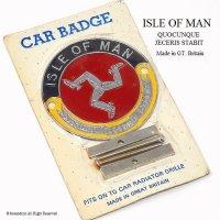 貴重!1960's ISLE OF MAN マン島 カー グリルバッジ デッドストック 未開封