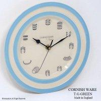 レア!T.G.GREEN CORNISHWEAR CLOCK/コーニッシュ BABY BLUE ウォールクロック デッドストック未使用