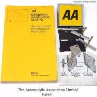 1972-73年 AA MEMBERS SET  AAカーバッジ他