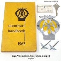 1961-63年 AA MEMBERS SET  AAカーバッジ他