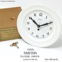<img class='new_mark_img1' src='//img.shop-pro.jp/img/new/icons13.gif' style='border:none;display:inline;margin:0px;padding:0px;width:auto;' />貴重!1950's SMITHS PLATIME 30 HOUR/スミス プレート ウォールクロック デッドストック 箱付
