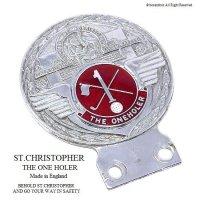 貴重!1960's  ST.CHRISTOPHER THE ONE HOLER/セント・クリストファー カー バッジ