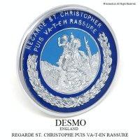 貴重!デッドストック 1950-60's DESMO/デスモ セント・クリストファー ST.CHRISTOPHER カー バッジ BU