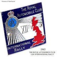 貴重!1963年 12th RAC INTERNATIONAL RALLY グリル・カーバッジ フィティング付
