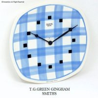 <img class='new_mark_img1' src='//img.shop-pro.jp/img/new/icons13.gif' style='border:none;display:inline;margin:0px;padding:0px;width:auto;' />1960's T.G.GREEN GINGHAM WALL CLOCK by SMITHS/スミス ギンガム ウォールクロック BLUE