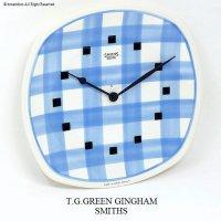 1960's T.G.GREEN GINGHAM WALL CLOCK by SMITHS/スミス ギンガム ウォールクロック BLUE