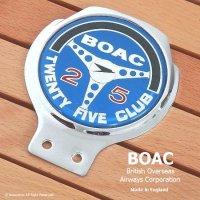 当時物 BOAC TWENTY FIVE CLUB カーバッジ