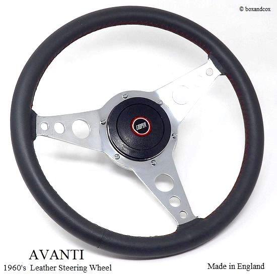 """1960's AVANTI 13"""" Leather Steeri..."""