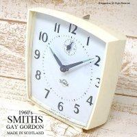 1960's SMITHS Timecal Alarm Gay Gordon/スミス 目覚まし時計 ゲイゴードン IVORY