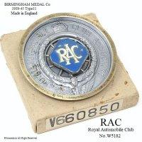貴重!1939-45年 RAC/Royal Automobile Club Type11 内貼り カーバッジ デッドストック 箱入り