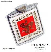 希少! ISLE OF MAN by RENAMEL LONDON/マン島 グリルバッジ デッドストック未使用