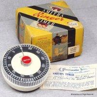 1963年12月24日 SMITHS スミス ビンテージ キッチン タイマー 1hour ギャランティー 箱付 ニアデッド