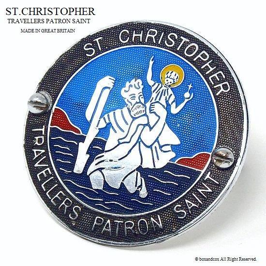 ビンテージ セント・クリストファー ST.CHRISTOPHER  グリル バッジ BK