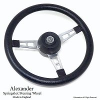 <img class='new_mark_img1' src='//img.shop-pro.jp/img/new/icons13.gif' style='border:none;display:inline;margin:0px;padding:0px;width:auto;' />Alexander Springalex Steering Wheel Full Set/アレキサンダー スプリンガレックス ステアリング 48スプライン ミニ用