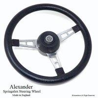 Alexander Springalex Steering Wheel Full Set/アレキサンダー スプリンガレックス ステアリング 48スプライン ミニ用
