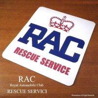 RAC RESCUE SERVICE ロゴ ラバーマグネット