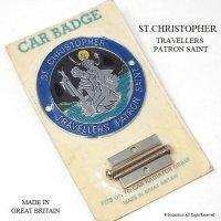 当時物 セント・クリストファー ST.CHRISTOPHER グリルバッジ デッドストック パッケージ入り BLUE