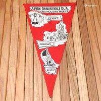 THE CAMPING AND CARAVANNING CLUB 1988 AVON(BRISTOL)/ペナント フラッグ デッドストック未使用