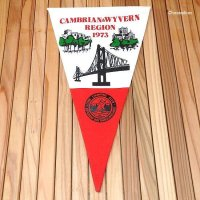 THE CAMPING CLUB OF GREAT BRITAIN 1973 CAMBRIAN&WYVERN/ペナント フラッグ デッドストック未使用
