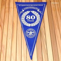 THE CAMPING CLUB OF GREAT BRITAIN 1981 80 YEARS ANNIVERSARY/ペナント フラッグ デッドストック未使用