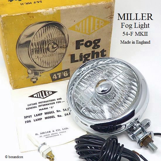 1960's MILLER FOG LIGHT No.54.F MK�/...