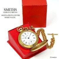 貴重!1970's SMITHS FULL HUNTER/スミス フルハンター 懐中時計 アルバートチェーン BOX
