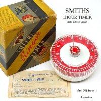 1960's SMITHS スミス ビンテージ キッチン タイマー 1hour ギャランティー 箱付 デッドストック