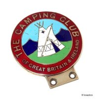当時物 THE CAMPING CLUB OF GREAT BRITAIN カーバッジ