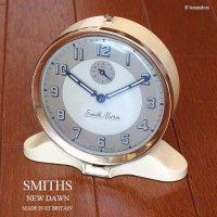 1950年代 SMITHS Alarm New Dawn/スミス ニューダウン 目覚まし時計 CREAM