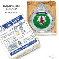 英国 HAMPSHIRE ENGLAND/ハンプシャー カーバッジ デッドストック 箱入