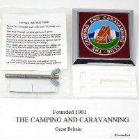 貴重!英国 THE CAMPING AND CARAVANNING CLUB グリル カーバッジ デッドストック