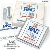 希少!1970's Royal Automobile Club RECOVERY グリルバッジ デッドストック 新品 BOX