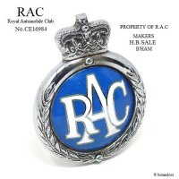 <img class='new_mark_img1' src='//img.shop-pro.jp/img/new/icons13.gif' style='border:none;display:inline;margin:0px;padding:0px;width:auto;' />1950's RAC/Royal Automobile Club グリルバッジ 七宝 エナメル フィティング付