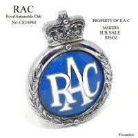 1950's RAC/Royal Automobile Club グリルバッジ 七宝 エナメル フィティング付