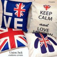 Union Jack cushion cover/ユニオンジャック クッションカバー45cm×45cm