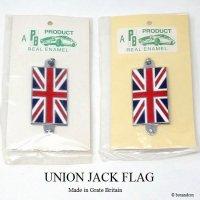 当時物 UNION JACK FLAG/ユニオンジャック 七宝製 カーバッジ デッドストック未開封