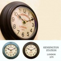 <img class='new_mark_img1' src='//img.shop-pro.jp/img/new/icons13.gif' style='border:none;display:inline;margin:0px;padding:0px;width:auto;' />KENSINGTON STATION ROUND CLOCK / ケンジントン ステーション ラウンドクロック