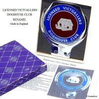 超貴重!DOGHOUSE CLUB LICENSED VICTUALLERS/ドッグハウス クラブ カーバッジ デッドストック RENAMEL製 BOX付