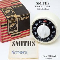 1960's SMITHS スミス ビンテージ キッチン タイマー 5hour ギャランティー 箱付 デッドストック