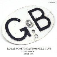 貴重!1950's GBプレート/ROYAL SCOTTISH AUTOMOBILE CLUB