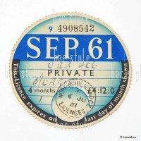 1961年 MORRIS / モーリス TAX DISC タックスディスク(SEP)
