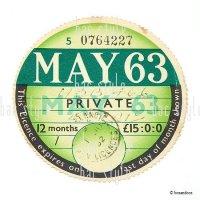 1963年 MORRIS / モーリス TAX DISC タックスディスク(MAY)