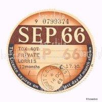 1966年 MORRIS / モーリス TAX DISC タックスディスク(SEP)