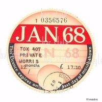 <img class='new_mark_img1' src='https://img.shop-pro.jp/img/new/icons13.gif' style='border:none;display:inline;margin:0px;padding:0px;width:auto;' />1968年 MORRIS / モーリス TAX DISC タックスディスク(JAN)
