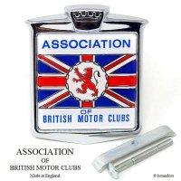 ビンテージ ASSOCIATION OF BRITISH MOTOR CLUBS by RENAMEL/ブリティシュ モータークラブ グリルバッジ