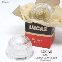 当時物 LUCAS L594 GLASS LENS SET/ルーカス パークランプレンズ クリア デッドストック セット