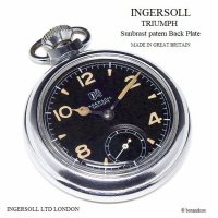 <img class='new_mark_img1' src='https://img.shop-pro.jp/img/new/icons13.gif' style='border:none;display:inline;margin:0px;padding:0px;width:auto;' />1950's INGERSOLL LONDON /インガーソル TRIUMPH トライアンフ 懐中時計 ミリタリー