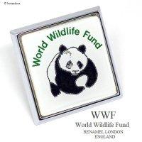 1970-80年代 WWF World Wildlife Fund メンバーズ スクエアーグリルバッジ RENAMEL製