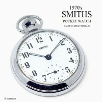 <img class='new_mark_img1' src='https://img.shop-pro.jp/img/new/icons13.gif' style='border:none;display:inline;margin:0px;padding:0px;width:auto;' />1970's SMITHS POCKET WATCH/スミス 懐中時計 SV/WH GN