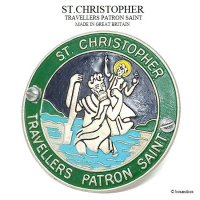 <img class='new_mark_img1' src='https://img.shop-pro.jp/img/new/icons13.gif' style='border:none;display:inline;margin:0px;padding:0px;width:auto;' />VINTAGE ST.CHRISTOPHER/セント・クリストファー グリル バッジ GRN